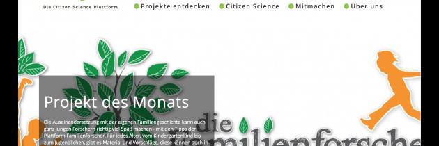 die Familienforscher sind das Projekt des Monats bei BürgerSchaffenWissen
